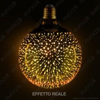 Girard Sudron Lampadina E27 Filamento LED Cosmos 4W Globo G125 Vetro Specchiato Effetto 3D