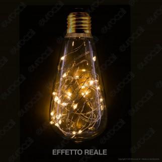 Girard Sudron Lampadina E27 Filo MicroLED Happy In 1,5W Bulb ST64 Effetto Lucciole