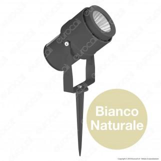 V-Tac VT-857 Faretto LED COB da Giardino 12W con Picchetto - SKU 7550 / 7551 / 7552