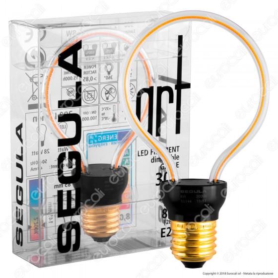 Segula Lampadina E27 Filamento LED Modellato 8W Globo Dimmerabile mod. 50144