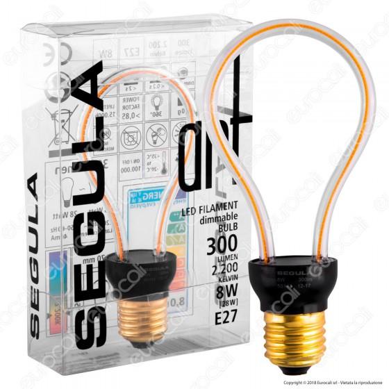 Segula Art Line Lampadina E27 Filamento LED Modellato 8W Globo Dimmerabile mod. 50143