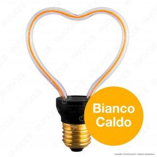 Segula Art Line Lampadina E27 Filamento LED Modellato 8W Forma Cuore Dimmerabile mod. 50148