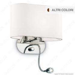Ideal Lux Sheraton AP2 Lampada da Parete con Portalampada E14 con LED Esterno Orientabile - mod