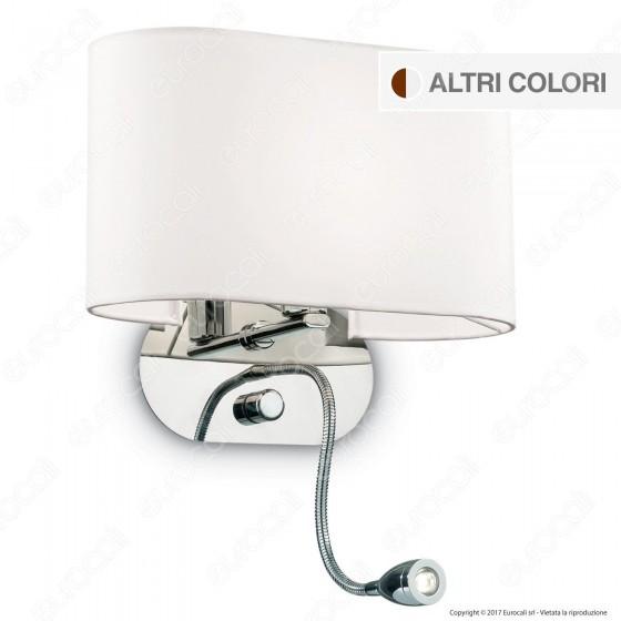 Ideal Lux Sheraton AP2 Lampada da Parete con Portalampada E14 con LED Esterno Orientabile