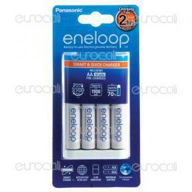 Sanyo Eneloop Caricabatterie Rapido MQR06 + 4 Pile Stilo AA 1900 mAh