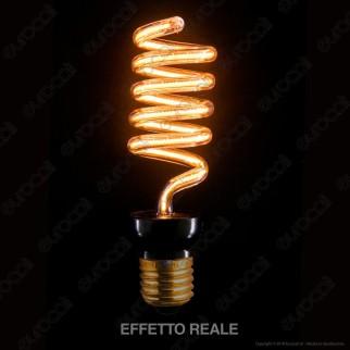 Segula Art Line Lampadina E27 Filamento LED Modellato 12W Forma CFL Dimmerabile mod. 50156