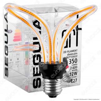 Segula Art Line Lampadina E27 Filamento LED Modellato 12W Forma Farfalla Dimmerabile mod. 50153