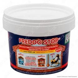 Tecnostuk Freddo Stop Rivestimento Termoisolante Traspirante per Interni ed Esterni - 2,5 Litri