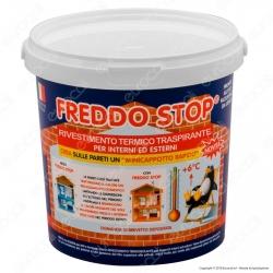 Tecnostuk Freddo Stop Rivestimento Termoisolante Traspirante per Interni ed Esterni - 1 Litro