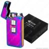 Cozy Accendino USB Hybrid in Metallo Antivento Ricaricabile con Doppio Arco al Plasma e Resistenza - 1 Accendino