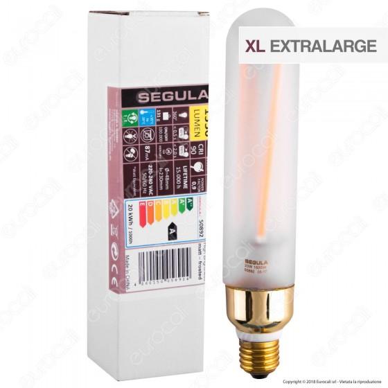 Segula Lampadina E27 Filamento LED 20W Tubolare Dimmerabile mod. 50892