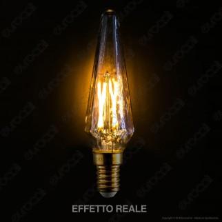 Girard Sudron Lampadina Filamento LED E14 4W Candela Ambrata Dimmerabile