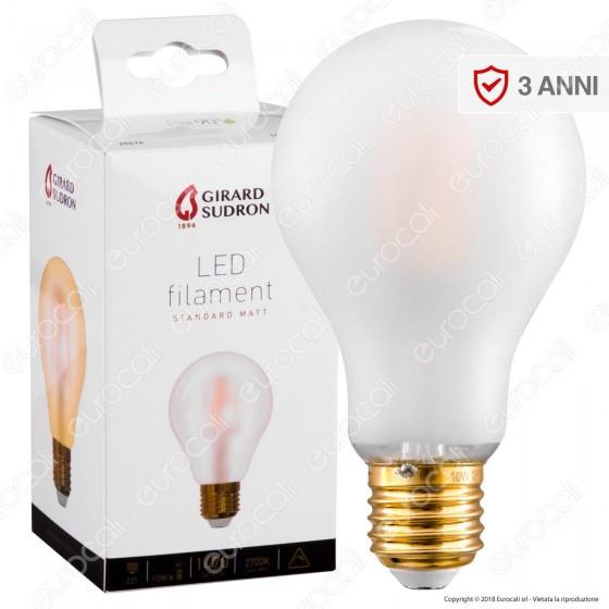 Girard Sudron Lampadina LED E27 10W Bulb A70 Frost Filamento - mod. 28676