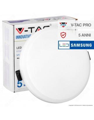 V-Tac PRO VT-615RD Pannello LED Rotondo 15W SMD da Incasso con Driver con Chip Samsung - SKU 621 / 622
