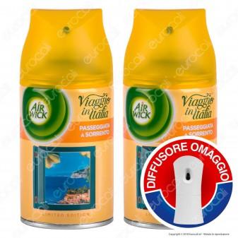 2 Ricariche Air Wick Pure Passeggiata a Sorrento + Diffusore Freshmatic Autospray