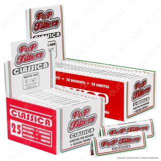 Kit Pop Filters 75 Cartine Corte Italia + Maxi Cup 500 Filtri Omaggio