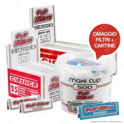 Kit Pop Filters 75 Cartine Corte Italia White Line + Maxi Cup 500 Filtri Omaggio