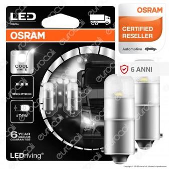 Osram LEDriving PREMIUM Lampade LED da Interno Retrofit - 2 Lampadine T4W