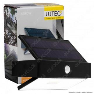 Lutec Lampada LED da Muro 2,3W con Pannello Solare e Sensore di Movimento - mod. 6910601335