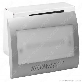 Silvanylux Faretto Segnapasso LED con Emergenza da Incasso per Cassetta Standard 503 1W Colore Grigio - mod. GRN731