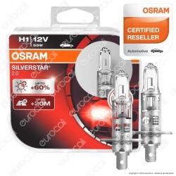 Osram Silverstar 2.0 55W- 2 Lampadine H1