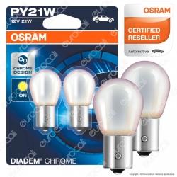 Osram Diadem Chrome Luci di Segnalazione 21W - 2 Lampadine PY21W