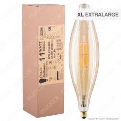 Daylight Lampadina E27 Filamenti LED 11W Tubolare BT120 con Vetro Ambrato Dimmerabile - mod. 700192.00A