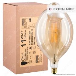 Daylight Lampadina E27 Filamenti LED 11W Tubolare BT180 con Vetro Ambrato Dimmerabile - mod. 700191.00A
