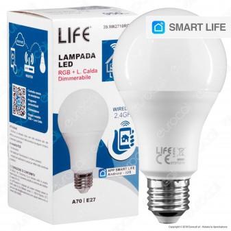 Life Lampadina LED Smart Life E27 10W Bulb A70 RGB+W Dimmerabile