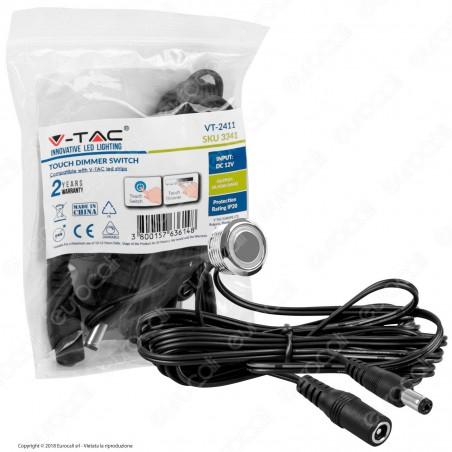 V-Tac VT-2411 Pulsante Touch con Dimmer e Illuminazione per Strisce LED - SKU 3341