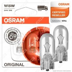 Osram Original Line per Camion 5W - 2 Lampadine W5W