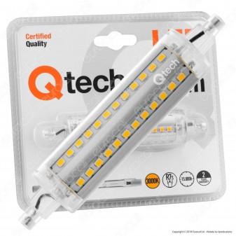 Qtech Lampadina LED R7s 10W L118 Bulb Tubolare - mod. 90040016 / 90040017