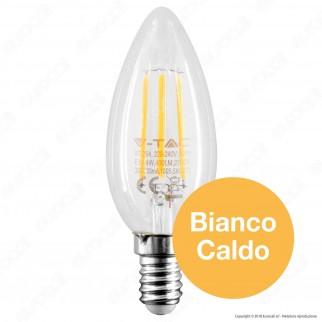 V-Tac PRO VT-254 Lampadina LED E14 4W Candela Filament Chip Samsung - SKU 272