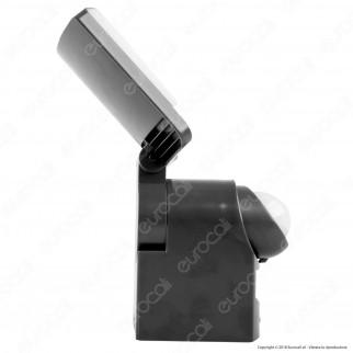 Lutec Sunshine Faretto LED 7,5W a Batteria con Carica Solare e Sensore di Movimento - mod. 6925601345