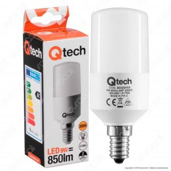 Qtech Lampadina LED E14 9W Tubolare T40 - mod. 90020068 / 90020069 / 90020070