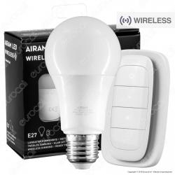 Bot Lighting Airam Starter Set Wireless Lampadina LED E27 9W Bulb A60 Dimmerabile con Telecomando - mod. 4713407