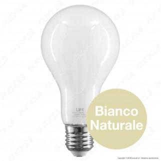 Life Lampadina LED E27 11W Bulb A70 Milky Filamento - mod. 39.920356M