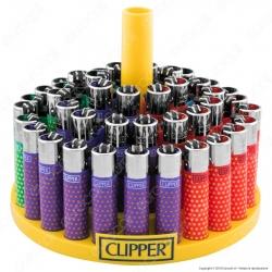 Clipper Large Fantasia Summer Dots - Box da 48 Accendini