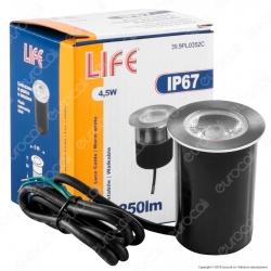 Life Punto Luce LED 4,5W Segnapasso da Interramento in Alluminio IP67 - mod. 39.9PL0352C