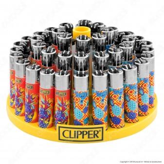 Clipper Large Fantasia Hipster Pineapple - Box da 48 Accendini
