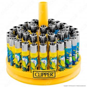 Clipper Large Fantasia Surf Time - Box da 48 Accendini