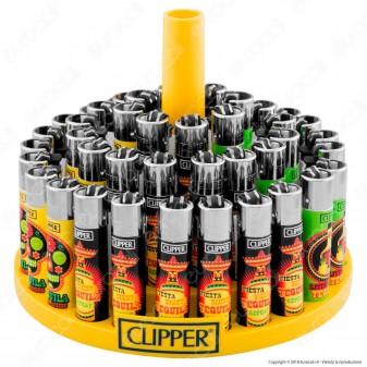 Clipper Large Fantasia Tequila Time - Box da 48 Accendini