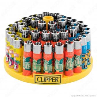Clipper Large Fantasia Tropical Islands 1 - Box da 48 Accendini