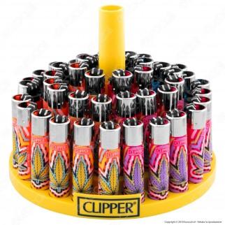 Clipper Large Fantasia Color Weed 2 - Box da 48 Accendini