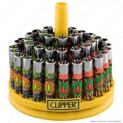 Clipper Large Fantasia Color Weed 3 - Box da 48 Accendini
