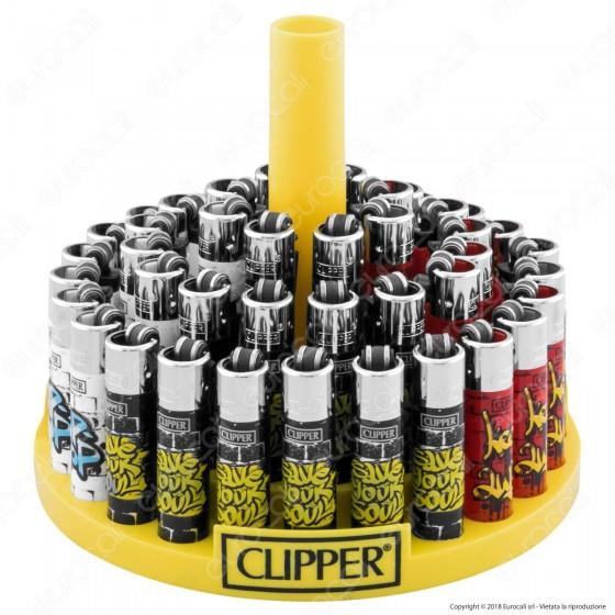 Clipper Micro Fantasia Graffiti Style 1 - Box da 48 Accendini