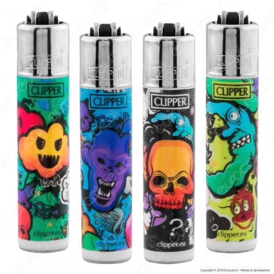 Clipper Micro Fantasia Graffiti Style 2 - 4 Accendini