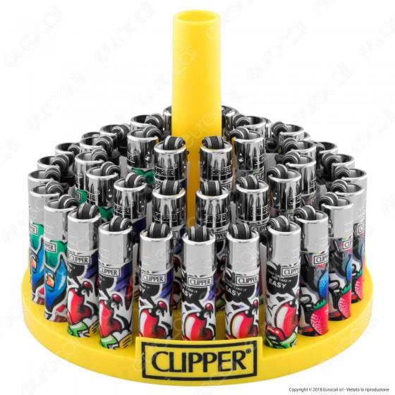 Clipper Micro Fantasia Graffiti Style 3 - Box da 48 Accendini
