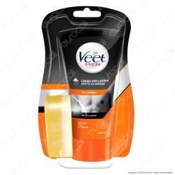 Veet For Men Silk & Fresh Crema Depilatoria Sotto la Doccia per Pelli Normali - Tubetto da 150ml