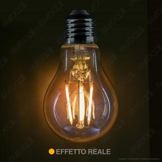 V-Tac VT-214 Lampadina LED E27 4W Bulb A60 Filamento Ambrata Chip Samsung - SKU 282